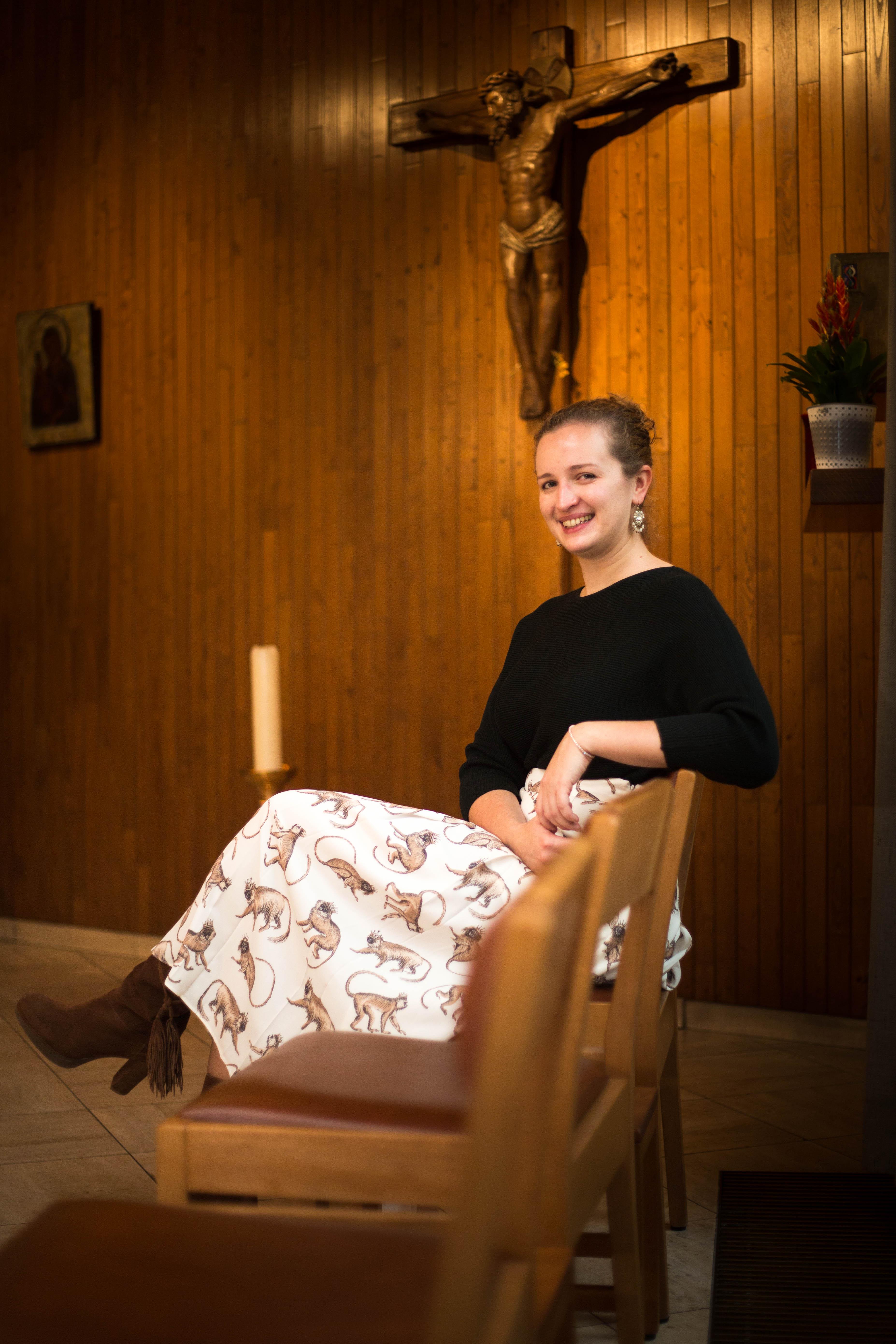 """""""Telkens je God denkt te kennen, weet Hij je toch weer te verrassen"""" zegt Valérie Kabergs. © Mine Dalemans"""