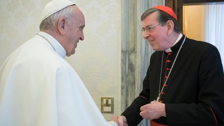 Kardinaal Koch bij paus Franciscus © Vatican Media