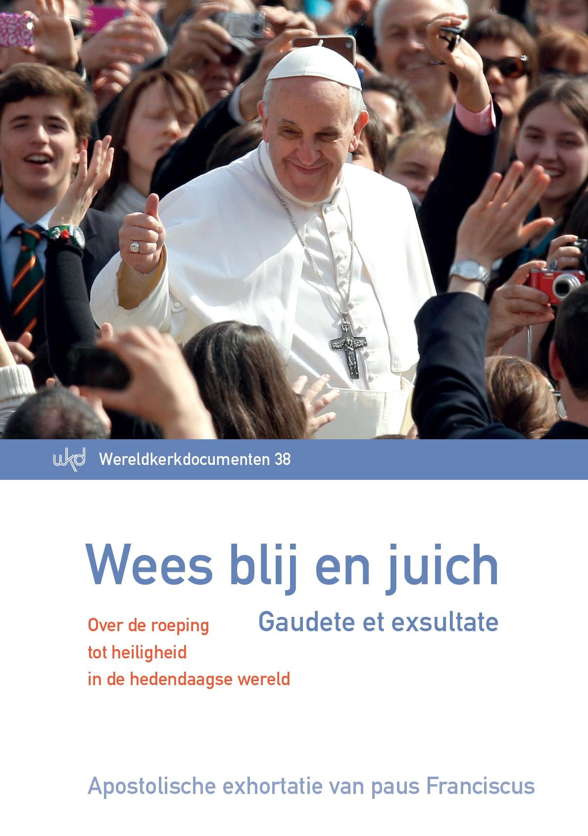 Cover van 'Wees blij en juich – Over de roeping tot heiligheid in de hedendaagse wereld'  © Licap