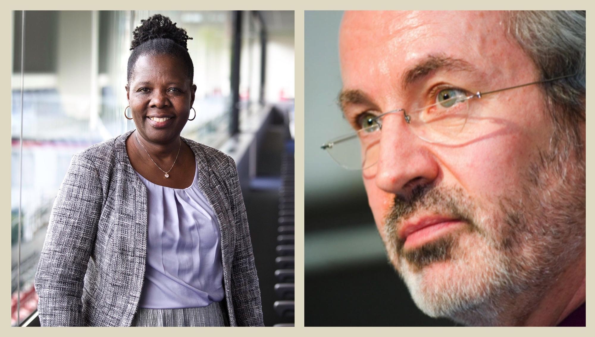 Zilipa Nyirabyago en Luc Bonte. © Ondernemers voor Ondernemers