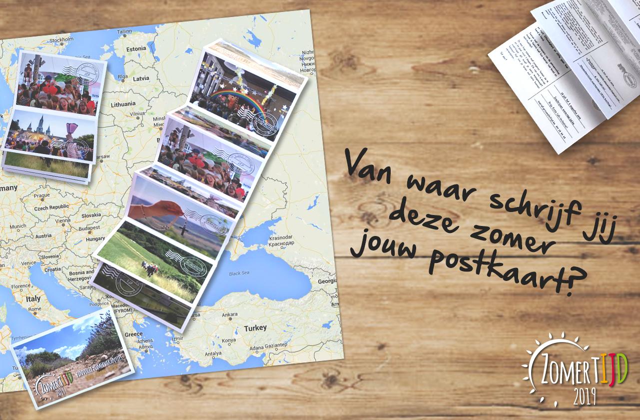 Vanwaar schrijf jij deze zomer een postkaart?  © Aagje Van Impe