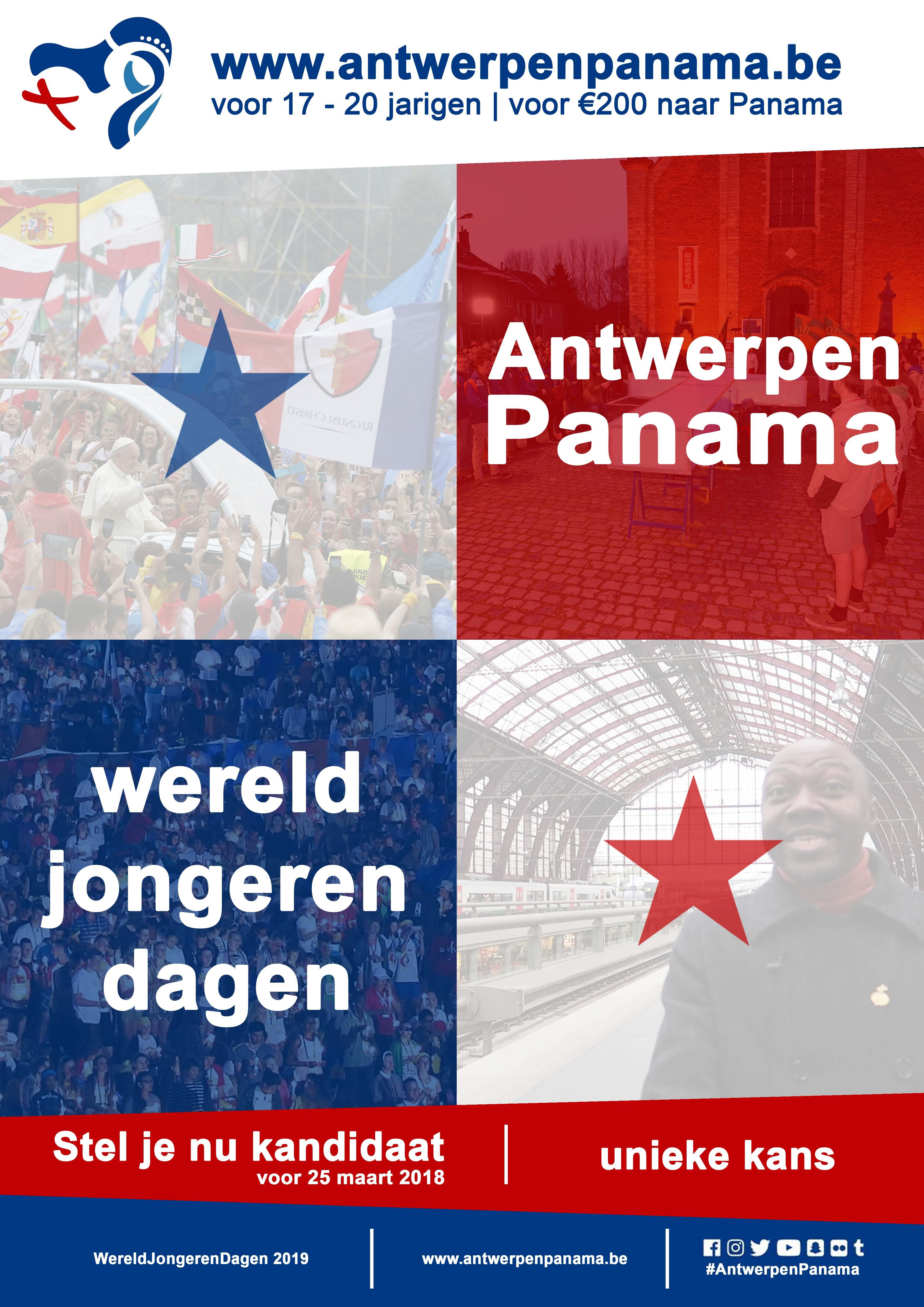 Affiche Antwerpen Panama  © Bisdom Antwerpen