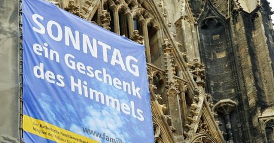 Kerken steunen de verdediging van de zondagsrust © Allianz für den freien Sonntag