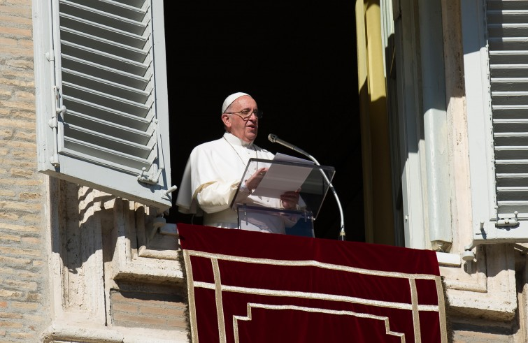 Het angelusgebed met paus Franciscus © SIR