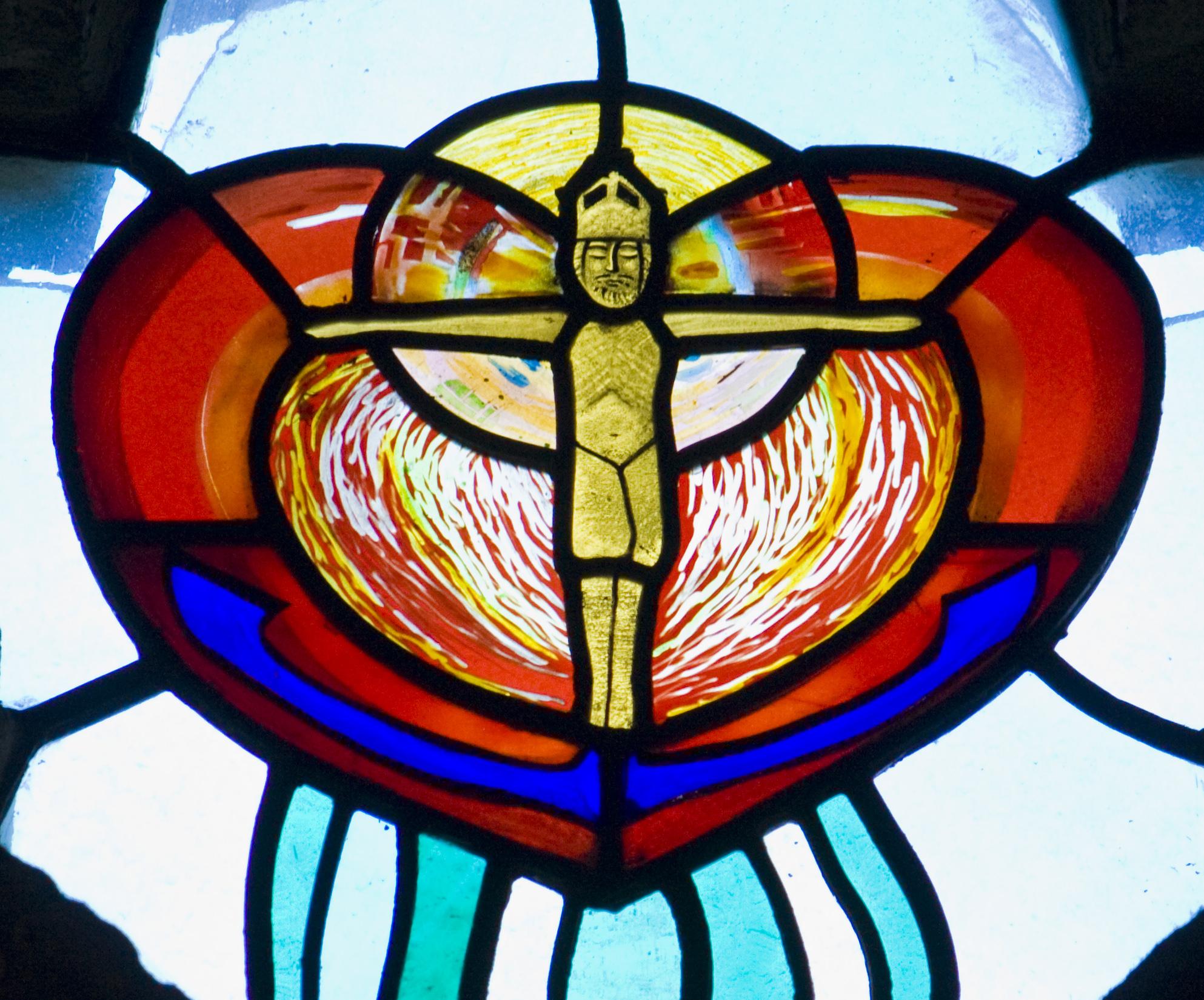 Het anker (hier in de Sint-Niklaaskerk in Newcastle) staat voor veiligheid en vertrouwen. © Fr Lawrence Lew, Flickr CC