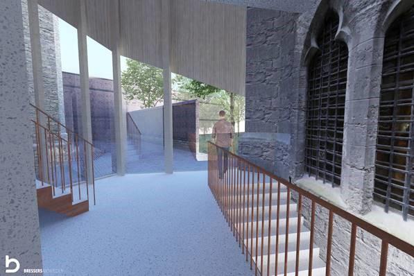 Ontwerp nieuwe bezoekerscentrum © Bressers Architecten