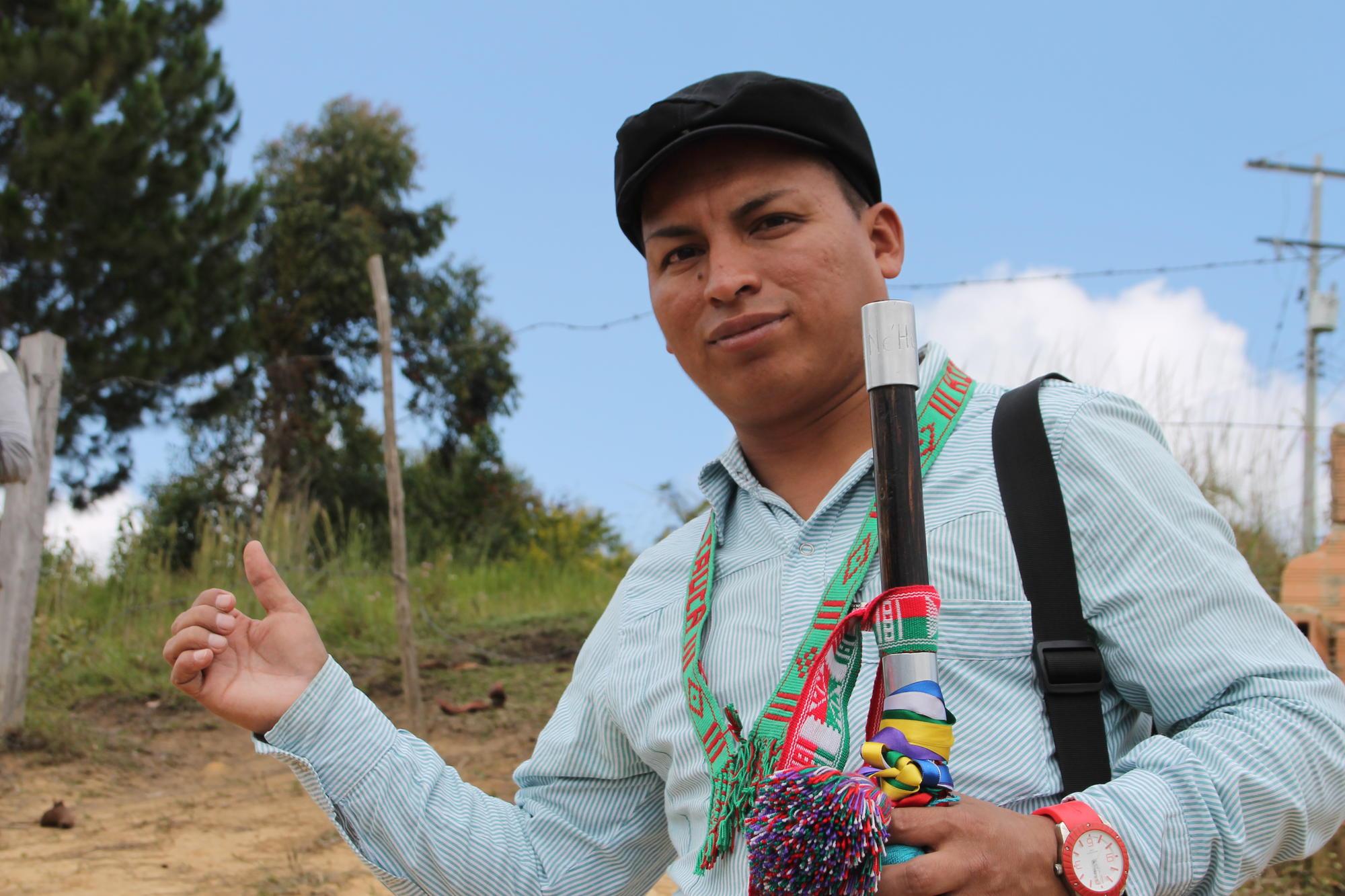 De inheemse leider Gerson Acosta Salazar  © Broederlijk Delen