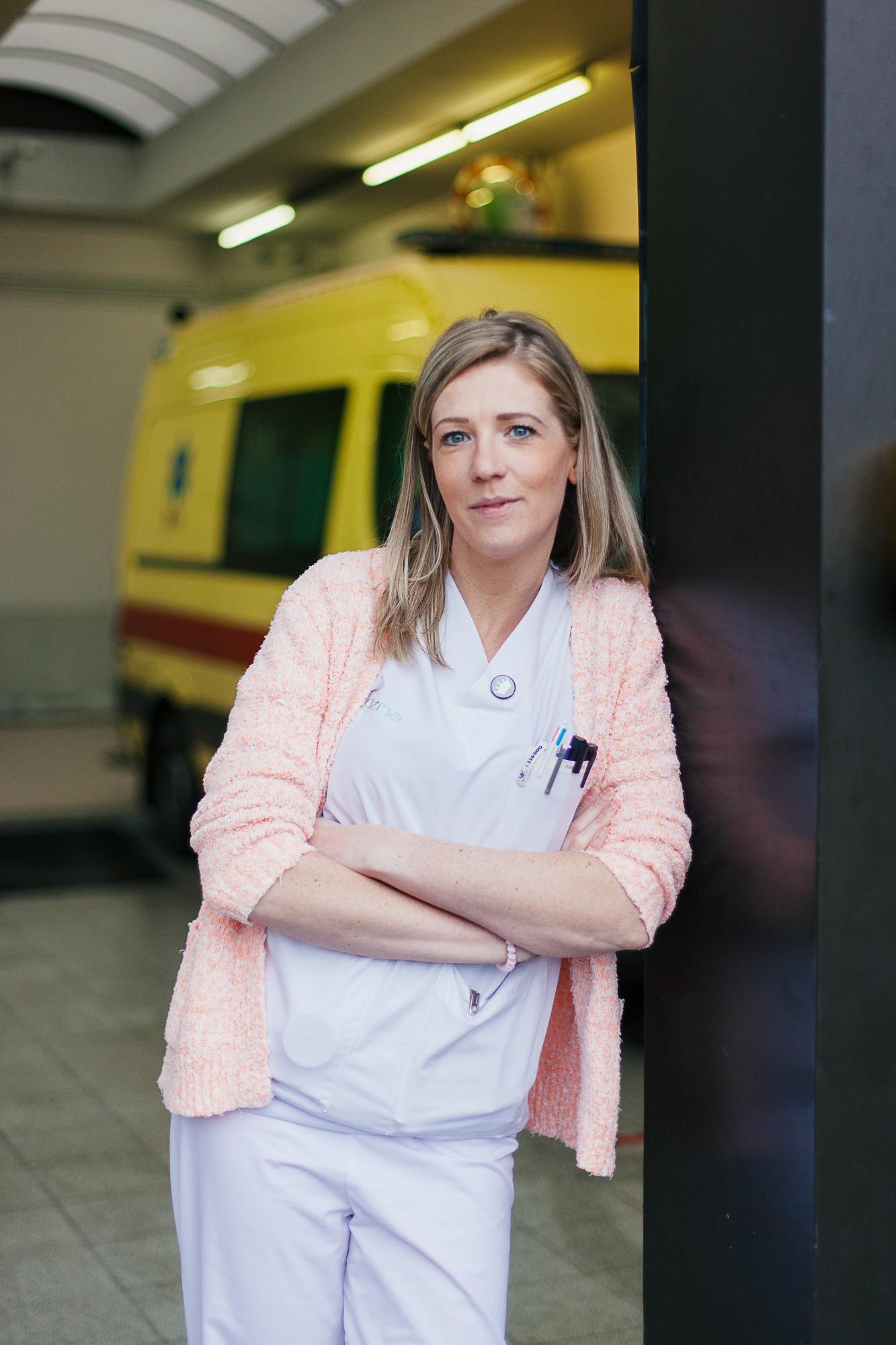 Caro ten Hove is verpleegkundige op spoed in Stuivenberg. © Mathias Hannes