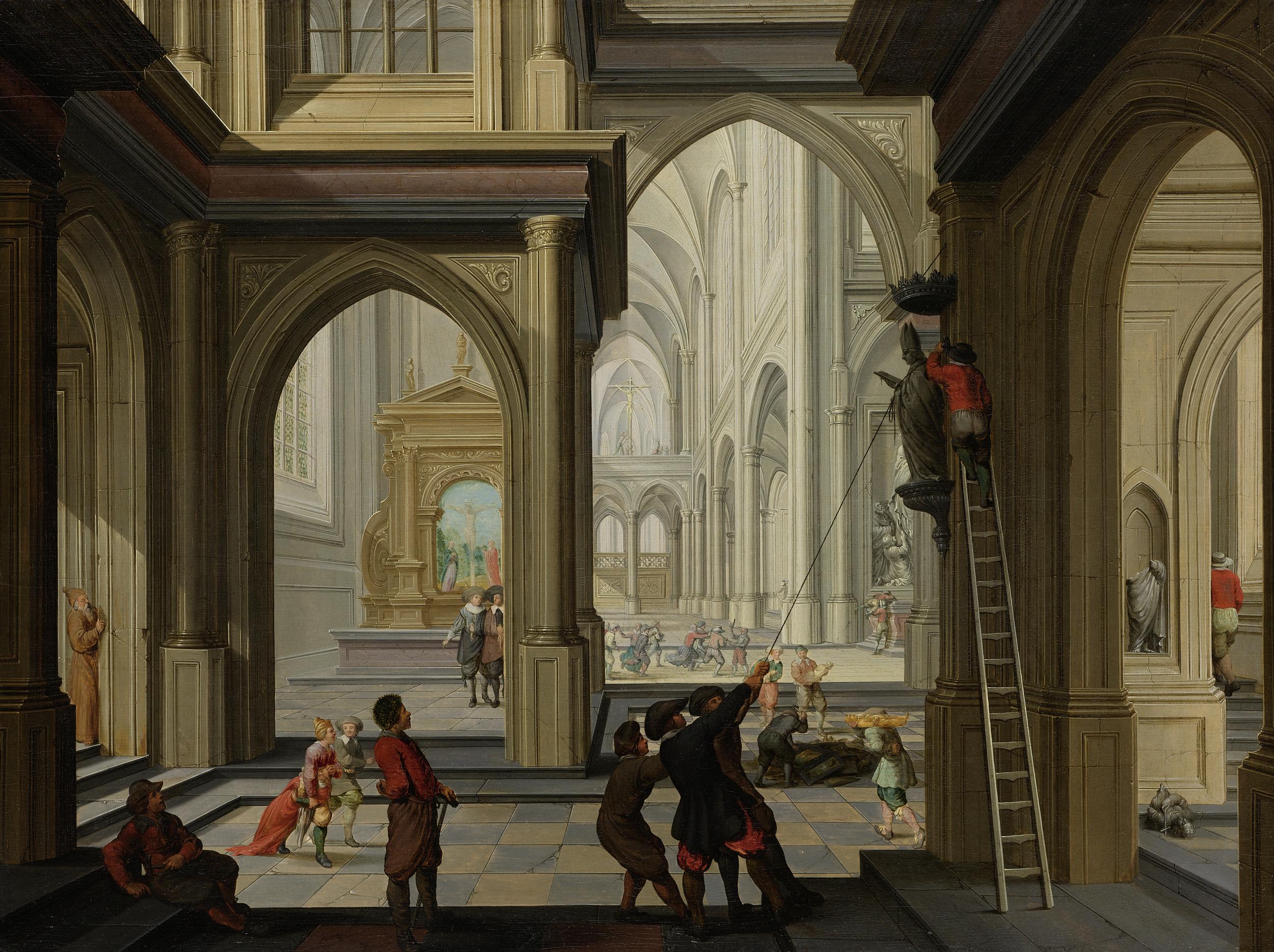 Dirck Van Delen, Beeldenstorm, 1630. © RR