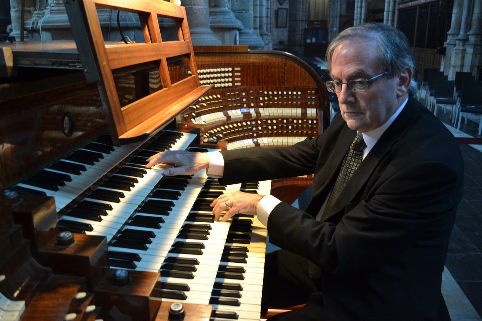 Edward De Geest, organist van de Sint-Baafskathedraal © Bisdom Gent