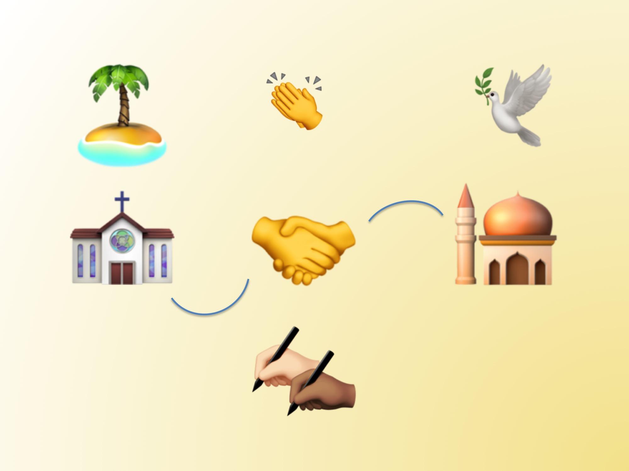 Klik op de afbeelding en ontdek naar welke kerkelijke actualiteit deze emoji-combinatie verwijst. © Lieve Wouters