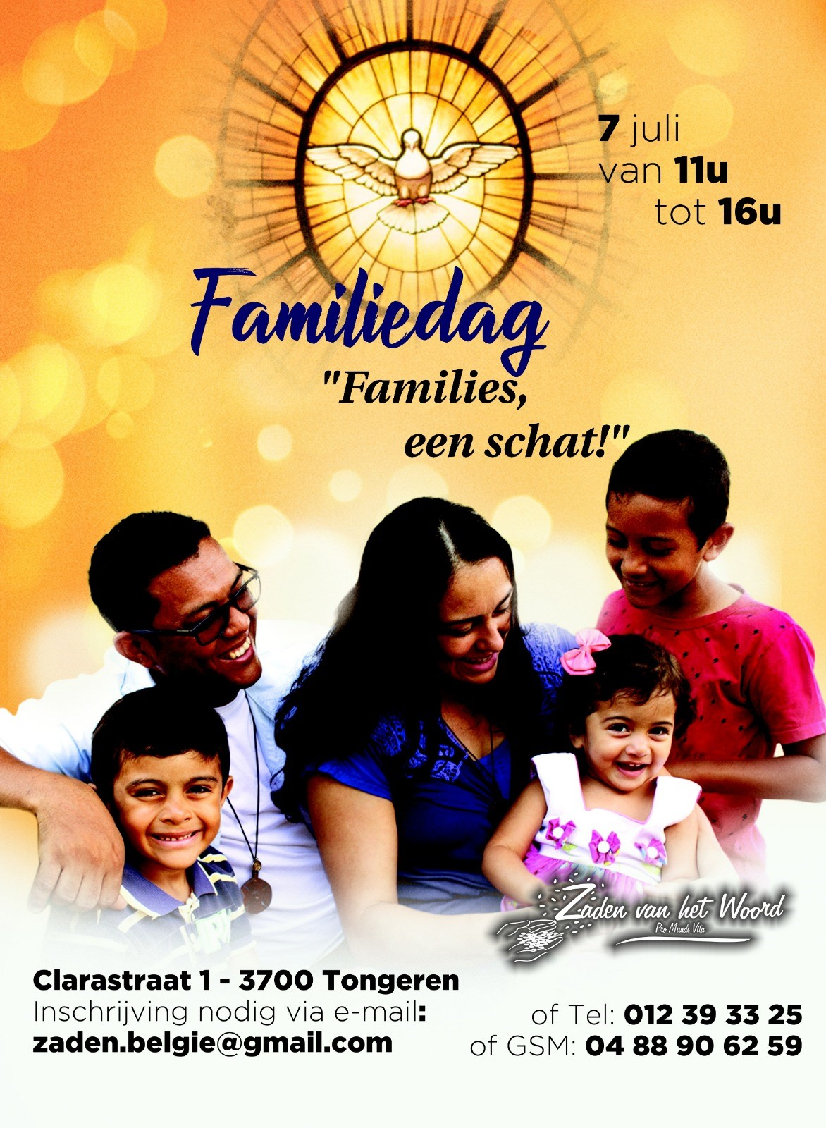 """Het thema van de familiedag luidt: """"Families, een schat!"""" © Gemeenschap Zaden van het Woord"""