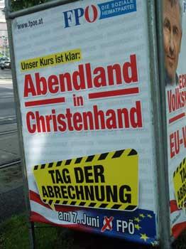 Affiche van de Oostenrijkse partij OVP © demokratiezentrum.org