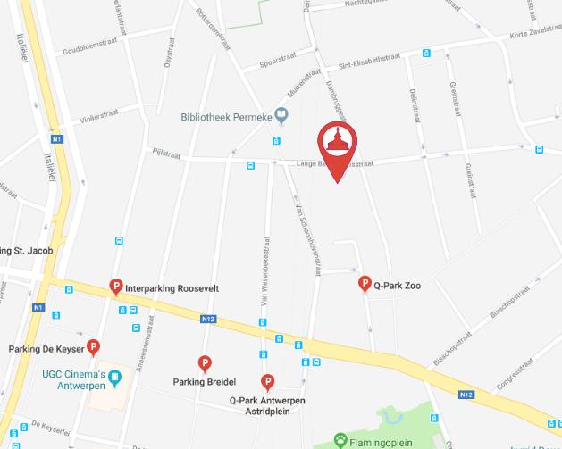 Betaalparkings in de buurt van de Heilig-Hartkerk