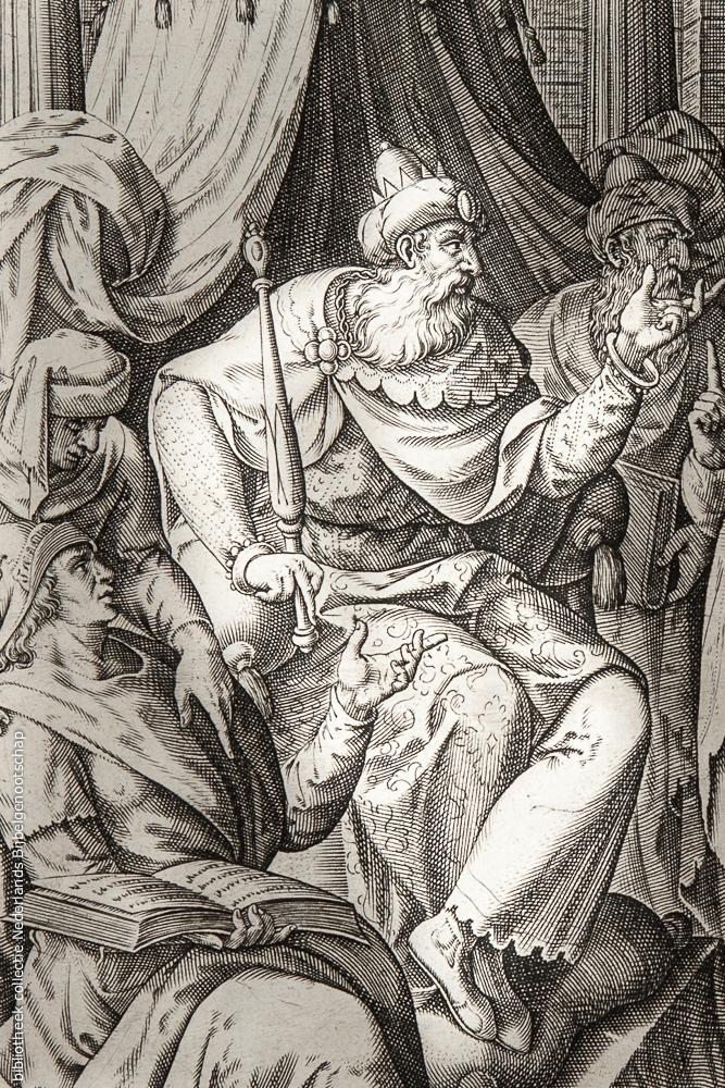 Koning Herodes de Grote getekend door Gerard de Jode, 1585 © Nederlands Bijbelgenootschap, DeBijbel.nl