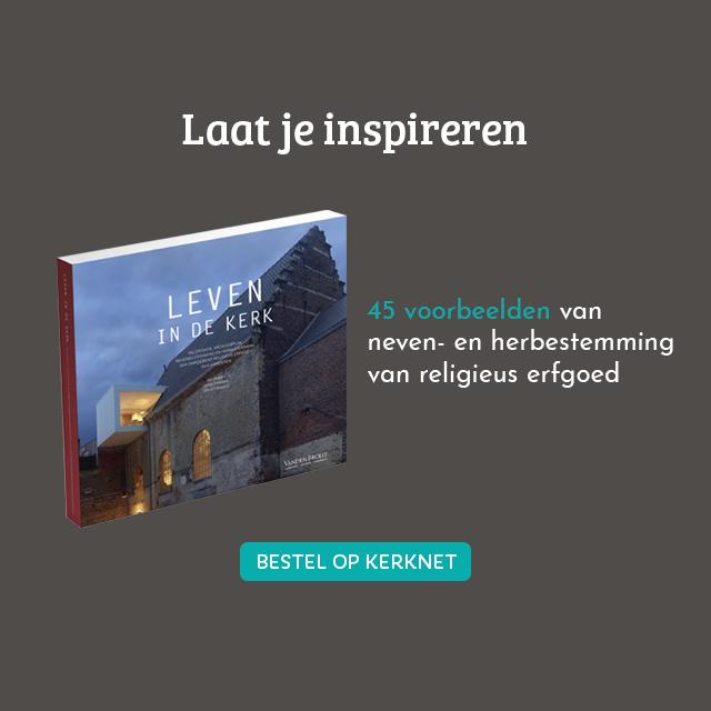 Leven in de kerk: valorisatie, medegebruik, nevenbestemming en herbestemming van onroerend religieus erfgoed in Vlaanderen. 2018, ISBN 9789049617325, 112 pagina's, 44,95 euro © CRKC-PARCUM