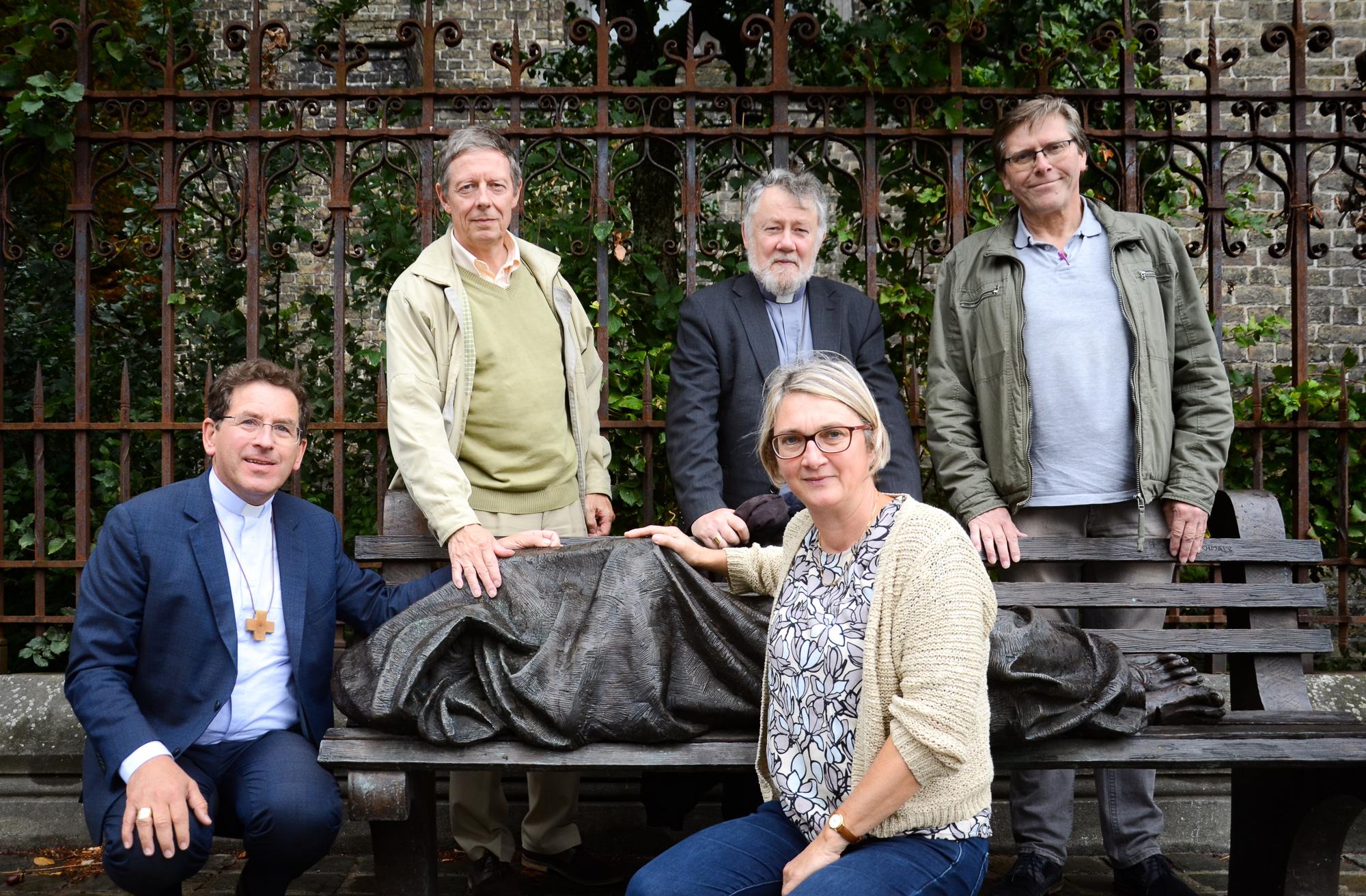 Vlnr Lode Aerts, Baudouin Van Overstraeten, Jean Kockerols, Griet Demeestere, Dominique Ballegeer © Foto Hellen Mardaga