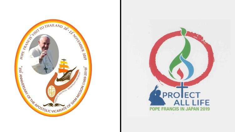 Het logo van beide pausbezoeken © Vatican Media