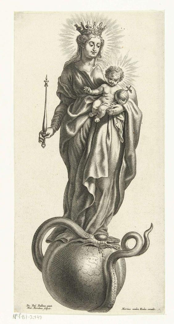 Mattheüs Borrekens, Maria met kind verwijdert de zonde van de wereld. © Rijksmuseum