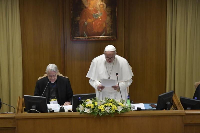 Opening van de topbijeenkomst over misbruik en kinderbescherming in Rome © Vatican Media