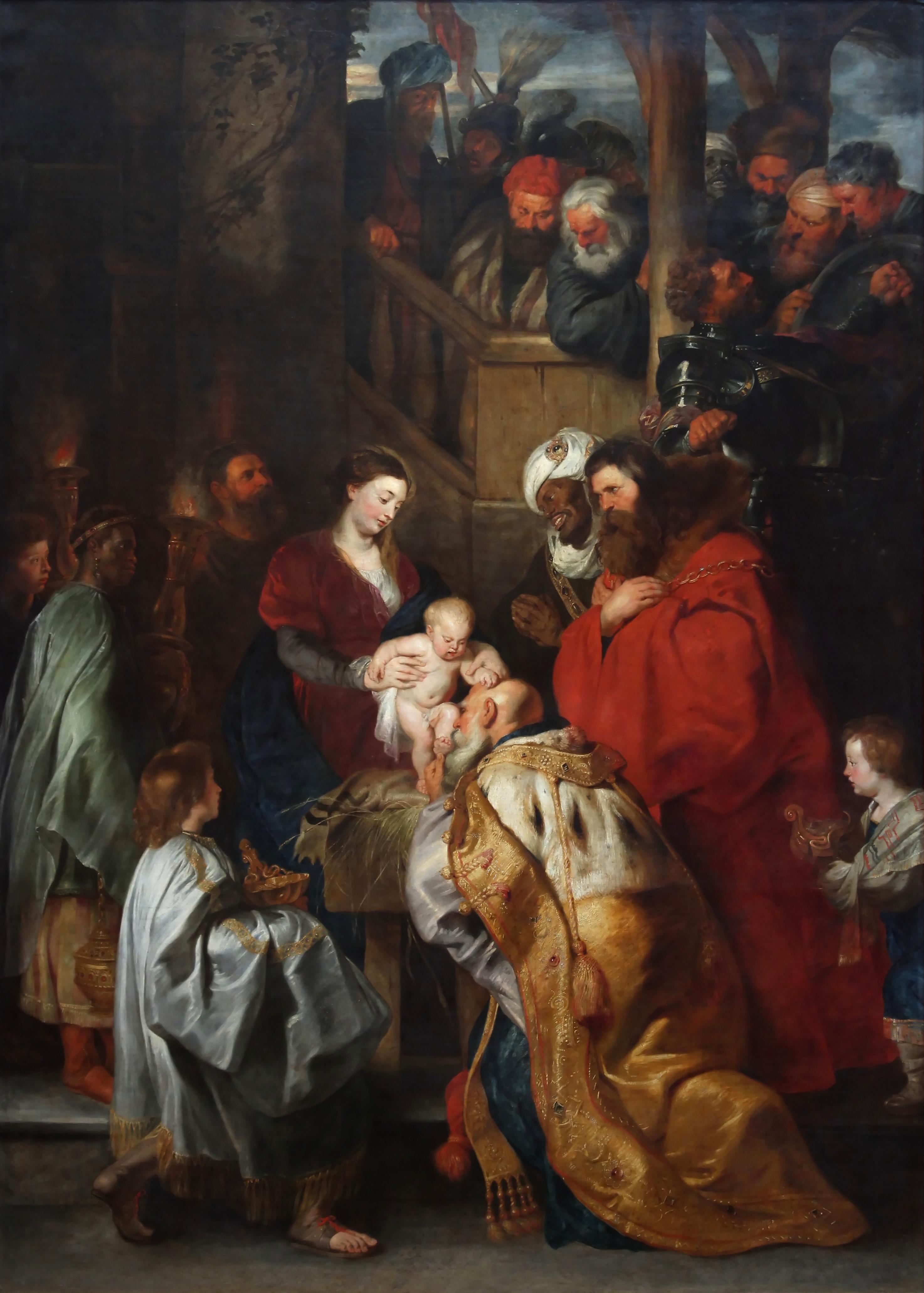 Peter Paul Rubens (1577-1640). Aanbidding der wijzen © Koninklijke Musea voor Schone Kunsten van België Brussel, Wikimedia Commons