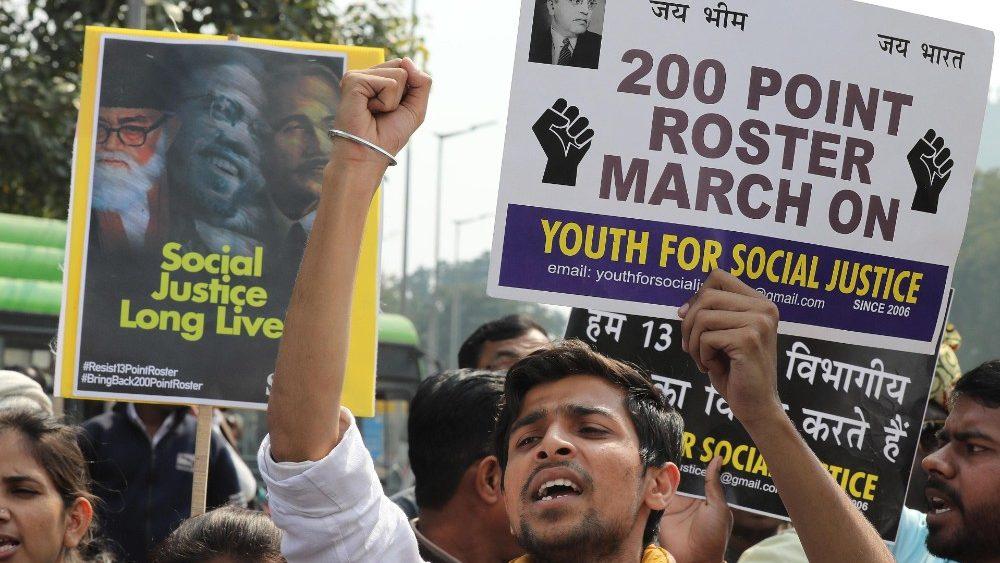 Protest in India © Vatican Media