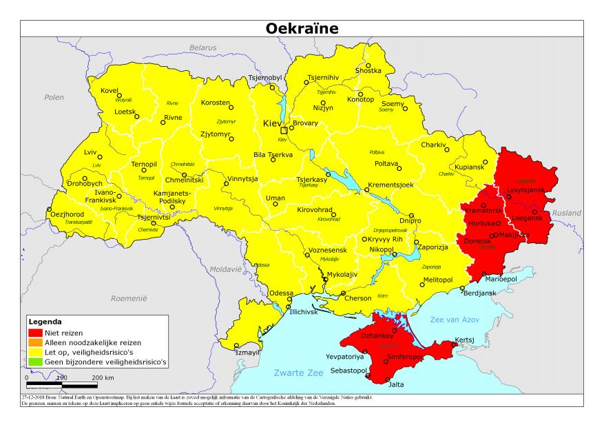 Conflictgebieden in Oekraïne © Wikipedia