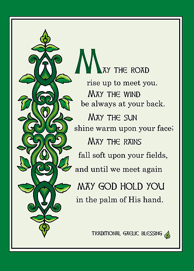 A typical Irish Blessing