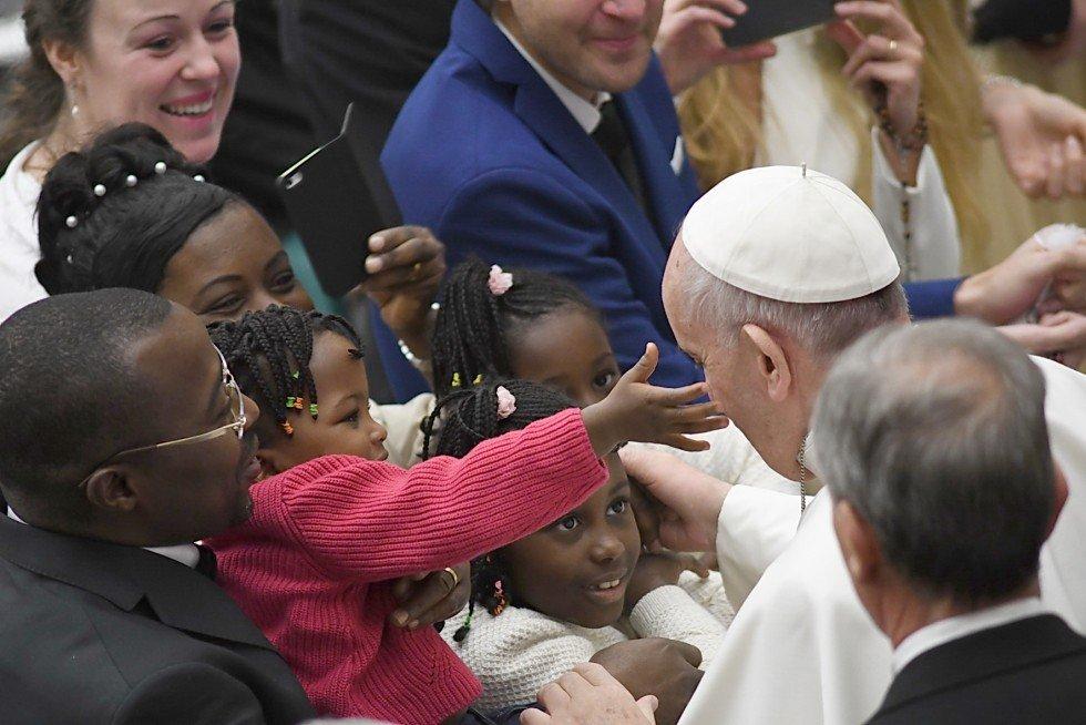 Audiëntie met paus Franciscus © SIR