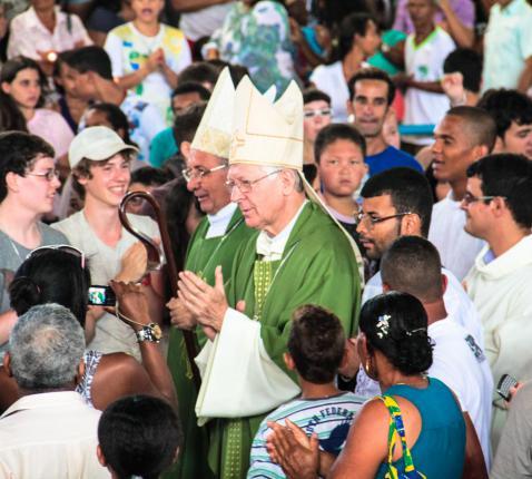 Bisschoppen De Witte en Van Looy in Ruy Barboda - Brazilië © IJD