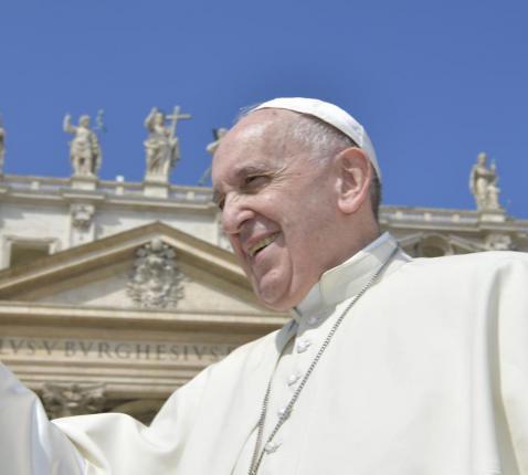 Paus Franciscus tijdens de algemene audiëntie van woensdag 17 april 2019 © VaticanMedia