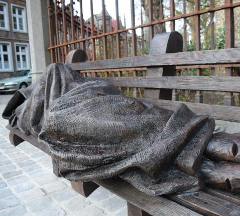 Homeless Jesus door kunstenaar Timothy Schmalz © Inge Cordemans