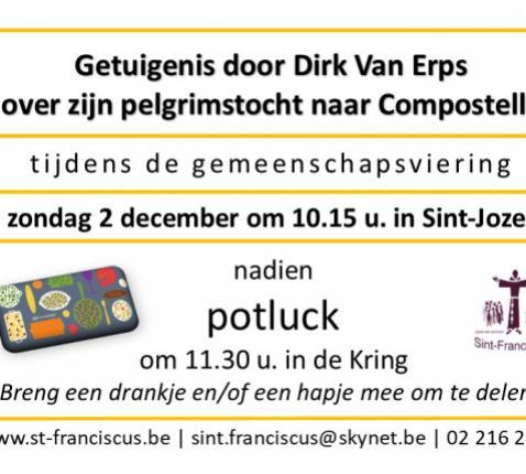 uitnodiging Getuigenis + Poltluck 2 december 2018 © Mariette Dhondt