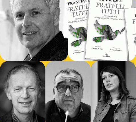 Collage met Jan Nolf, Annelies Verstichel, Mohamed Achaibi en Antoon Vandevelde.