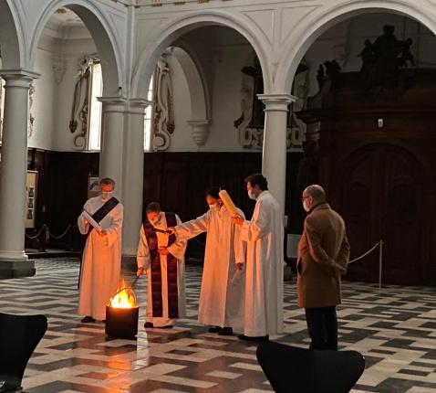 Paaswake vanuit de Sint-Carolus Borromeuskerk © Parochie Sint-Carolus Borromeus Antwerpen