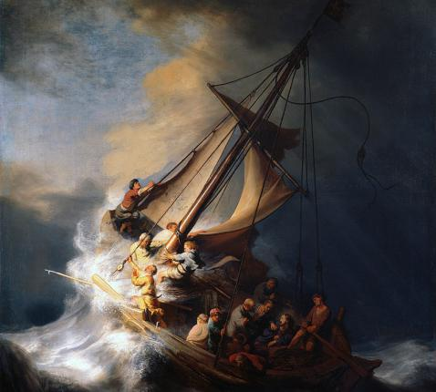 Rembrandt, storm op het meer