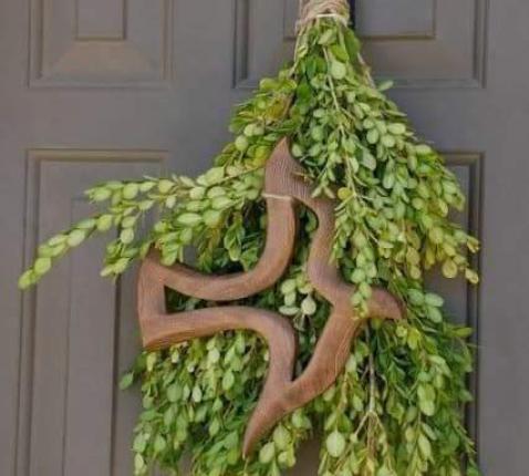 'Palmpasen' aan de deur van een woning © Bisdom Formosa - Argentinië