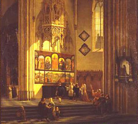 Bezoek van Albrecht Dürer aan Lam Gods © rr