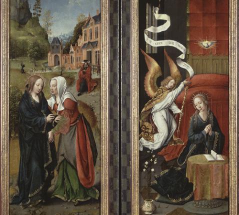 Annunciatie_en_Visitatie,_circa_1501_-_circa_1525,_Groeningemuseum - Wikimedia Commons © Groeningemuseum- Wikimedia Commons