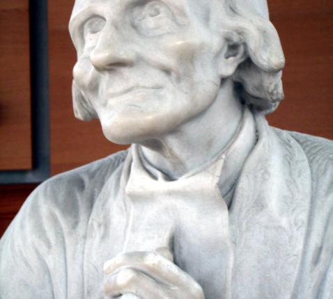 Een beeld van Jean-Marie Vianney uit 1867, enkele jaren na zijn dood. © Wikipedia / Andreas König