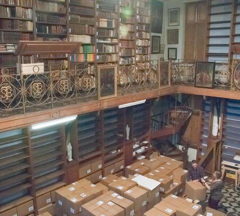 Abdijbibliotheek van Sint-Bernardus in Bornem © osb