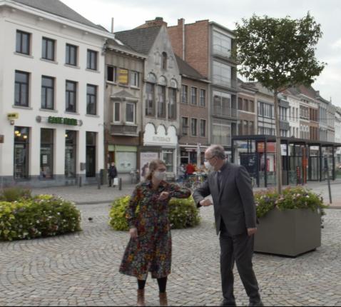 Catherine De Ryck en Koen Vanhoutte in Mechelen. © Jens Steenwinckel