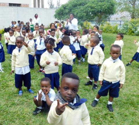 Het nieuwe kleuterschooltje in Kigali © zrs Bernardinnen