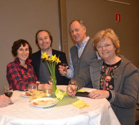 V.l.n.r. Karien en Koen met medecatechisten Eddy en Els © Karen Devroe