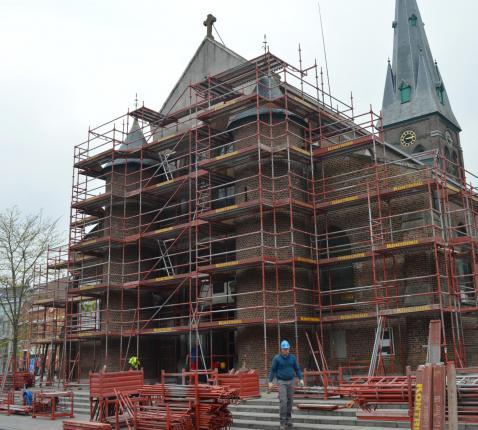 Werken voorgevel Sint-Michielskerk © Kris Quartier