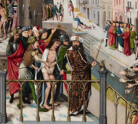 Detail van de Ecce Homo van het devotieschilderij © Museum Catharijneconvent