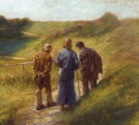 Op weg naar Emmaüs, Tritz von Uhde (1848-1911)