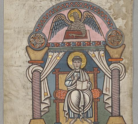 Johannes, Stockholm codex aureus, 8e eeuw © fr.wikipedia.org