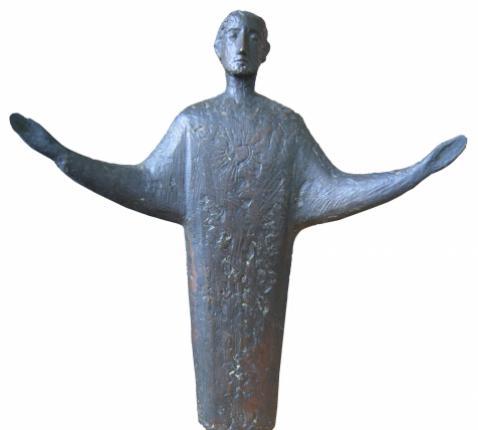 Heilig Hartbeeld, brons, 1955, Hein Koreman