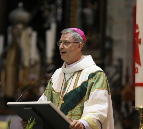 Mgr. Johan Bonny op de Sint-Gummarusbedevaart in 2015